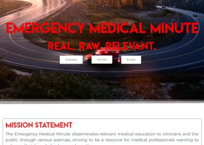 Emergency Medical Minute Podcast | Custom Elementor Website