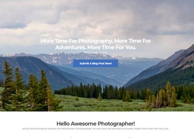 The Photographer's Blogger | Custom WordPress Website