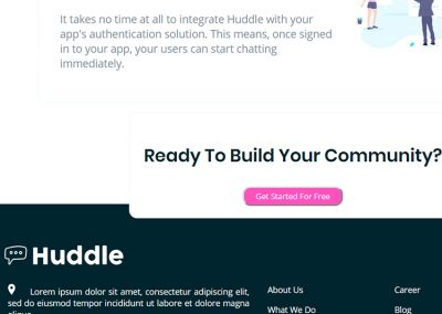 Huddle Page – Built to Spec