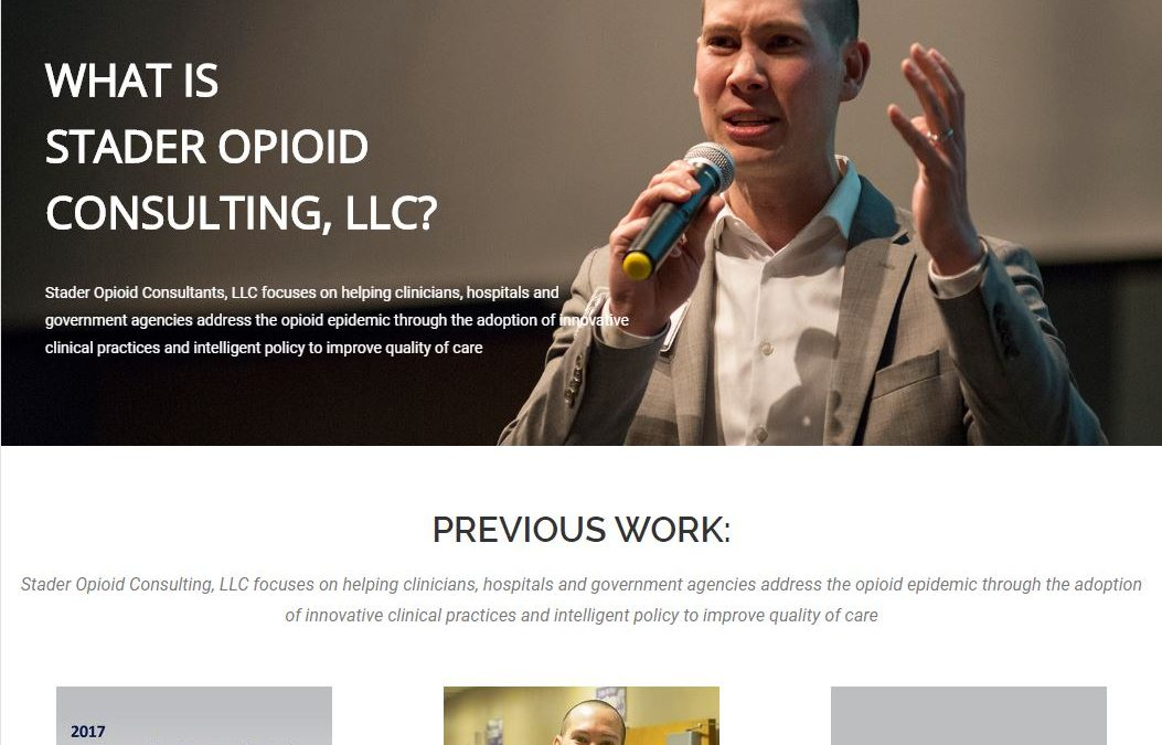 Custom Consulting Website | Stader Opioid Consultants