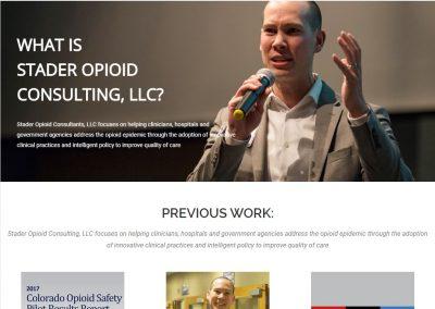 Custom Consulting Website | Stader Opioid Consultants