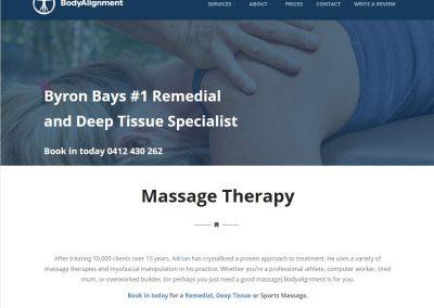 Massage Therapist Website | BodyAlignment
