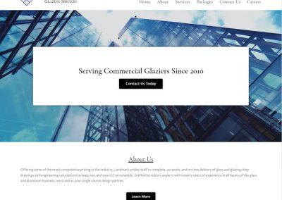 Custom Glazing Website | Landmark Glazing Services