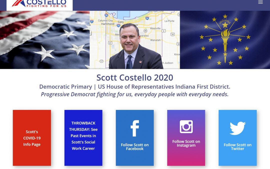 Custom Website for Politician | Scott Costello