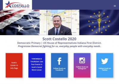 Custom Website for Politician | Scott Costello